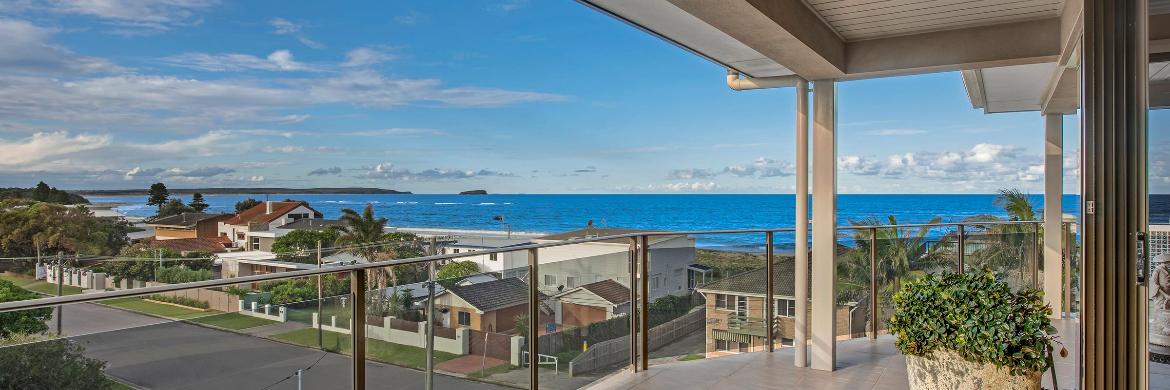 Hargraves Beach House veranda view